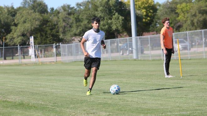 Ezekiel Martinez-Acosta is one of nine returning starters for the Hutchinson boys soccer team.