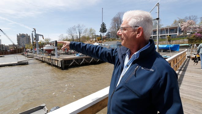 Gary Tenenbaum, commodore of the Nyack Boat Club, says that the construction restrictions are impacting boating activities near Tappan Zee Bridge.