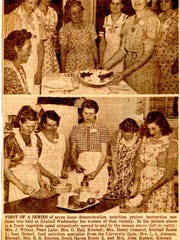 Photos in a 1941 edition of the St. Cloud Times show Homemaker Club gatherings.
