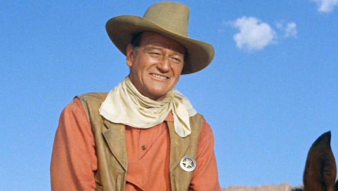 "John Wayne as Texas Ranger Jake Cutter in the 1961 western ""The Comancheros."""