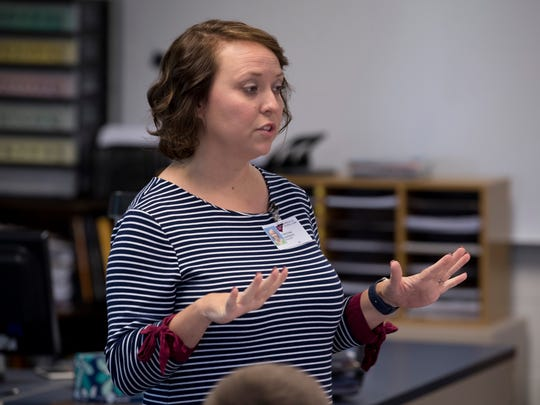 Christina Lawrence has been teaching Language Arts at Castle North Middle School for 10 years.