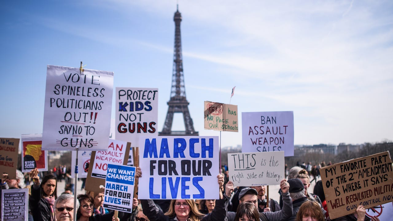 More than 800 rallies took place around the world Saturday in solidarity with the 'March for Our Lives' rally in the United States.
