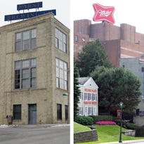 Two companies steeped in Milwaukee history, Pabst Brewing (historic plant, left) and MillerCoors (right), are embroiled in a legal battle over MillerCoors' commitment to brewing Pabst brands