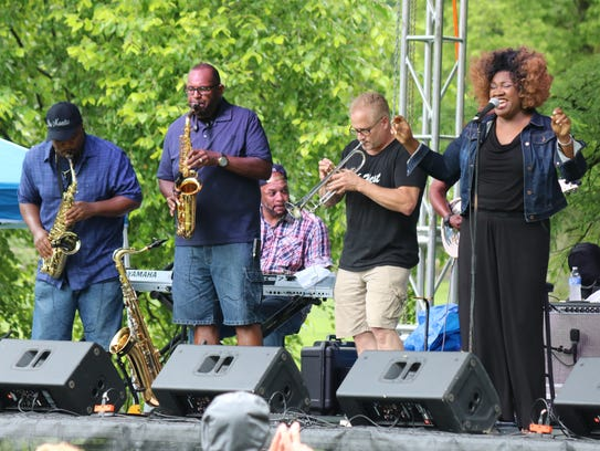 496 West, a jazz band from Michigan, performs during