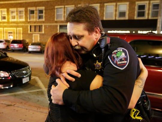 Lt. Jay Steinke of the Appleton Police Department gives