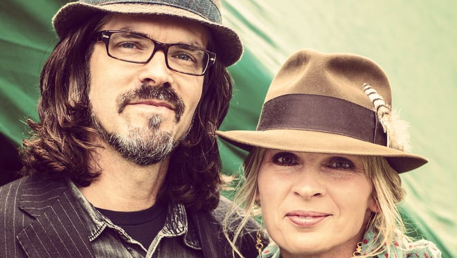 The musical duo Over the Rhine, Linford Detweiler, left, and Karin Bergquist