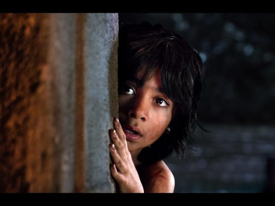 Mowgli, a man-cub raised by wolves, is played y 12-year-old