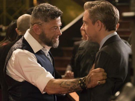 Ulysses Klaue (Andy Serkis)  and CIA agent Everett