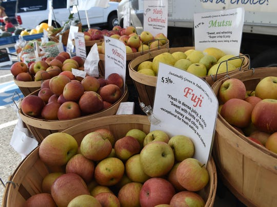 Varieties of apples available from Mountain Meadows
