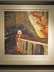 Limited edition lithograph created by David Bowie that's titled Child in Berlin.