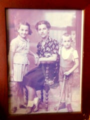Melinda Hershkowitz, her mother and brother from Transylvania.