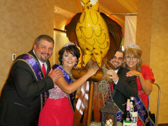 Krewe des Ambassadeurs-Minden Dukes and Duchesses at Coronation Gala: Hospitality Jason Perot and Summer Perot and Prosperity Thomas Adams and Thresa Mouser.