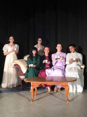 "Members of the Cumberland Christian School Players rehearse for their upcoming production of the drama, ""Anne of Green Gables."""