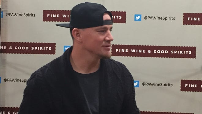 Hundreds of people waited to get bottles of vodka signed by actor Channing Tatum in Hummelstown, Pa. on Wednesday, June 27.