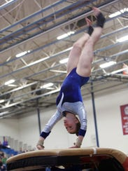 Mahopac's Callie Johanson competes in the Vault during