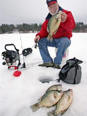 Pro angler Gary Roach icing some good crappies.
