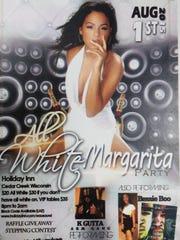 A flier for the All White Margarita Party on Aug. 1, 2015, a fundraiser for the Teresa Jones Family Shelter.