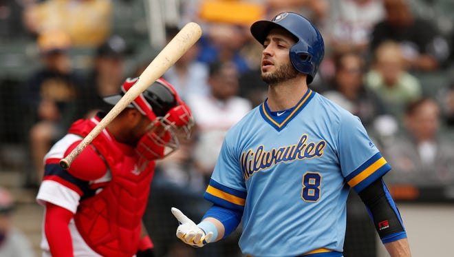 Entering Saturday, Ryan Braun was batting .239, which easily would be a career low over a full season.