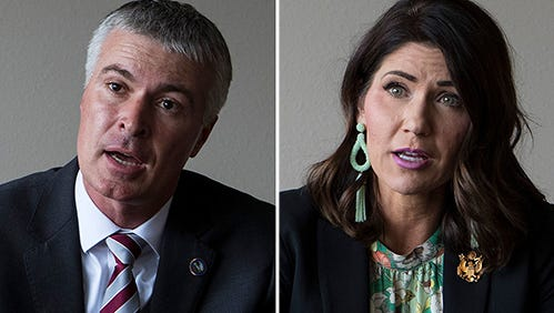 Marty Jackley and Kristi Noem