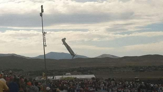 Photo of the plane crash just before impact on Friday, Sept. 16, 2011.