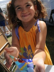 Sofia Green of Chicago created a stained glass ornament