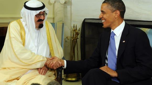 President Obama and Saudi Arabian King Abdullah Bin-Abd-al-Aziz