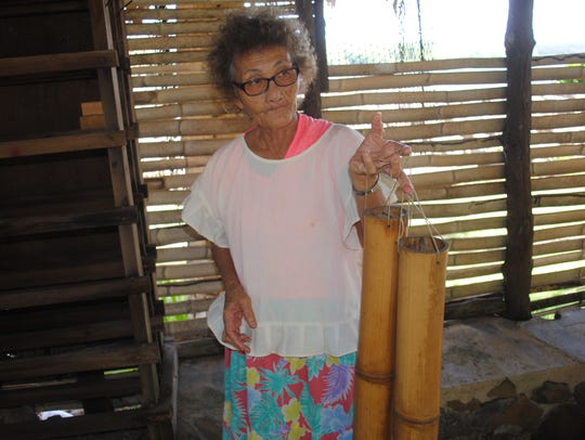 Rose San Nicolas, a 72-year-old cultural craftswoman