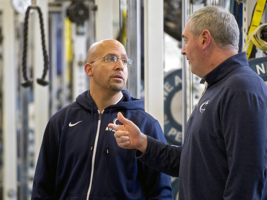 Coach James Franklin (left) was drawn to Moorhead (right)