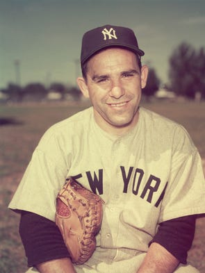 Portrait of American baseball player Yogi Berra in