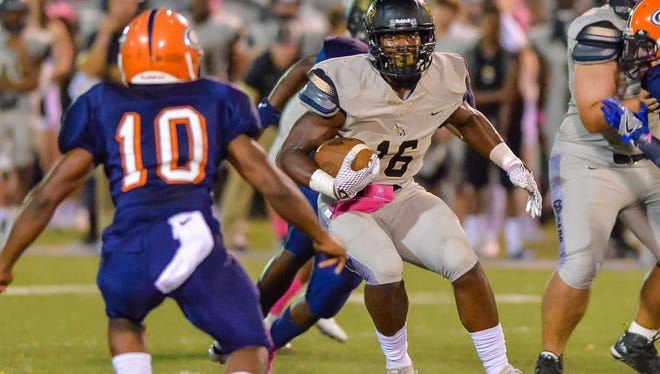 Northwest Rankin running back Cameron Carroll runs against Callaway during Thursday's game at Newell Field.