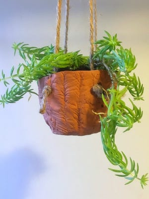 Air dry clay will be coiled and molded into a hanging planter for a tiny succulent in the Jan. 16 Crafternoon program at the Fond du Lac Public Library. The program is free to adults and teens in middle school and older. Registration is required and begins at 9 a.m. Saturday, Jan. 2, online at fdlpl.org or by calling 920-322-3929.