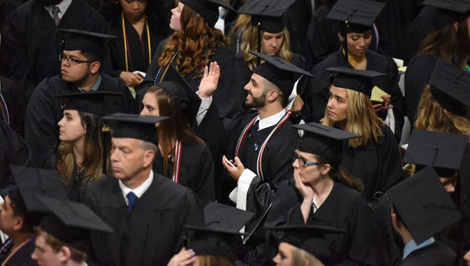 Graduates at Mount St. Mary College's 55th annual commencement ceremony.
