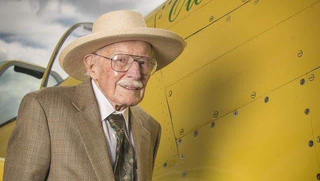 WWII pilot Bob Hoover, 91, was instrumental in the creation of the first Reno National Championship Air Races in 1964. Hoover returned for the 50th anniversary of the races.