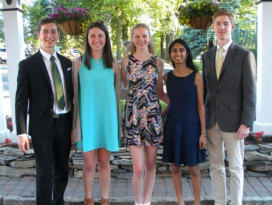 ACCNJ Scholarship recipients at the ACCNJ awards event