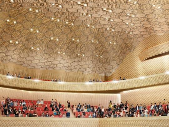 A rendering of the auditorium in La Seine Musicale in Paris