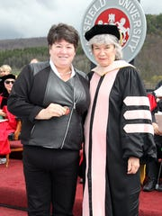 Deborah Rotella, left, assistant professor and chair