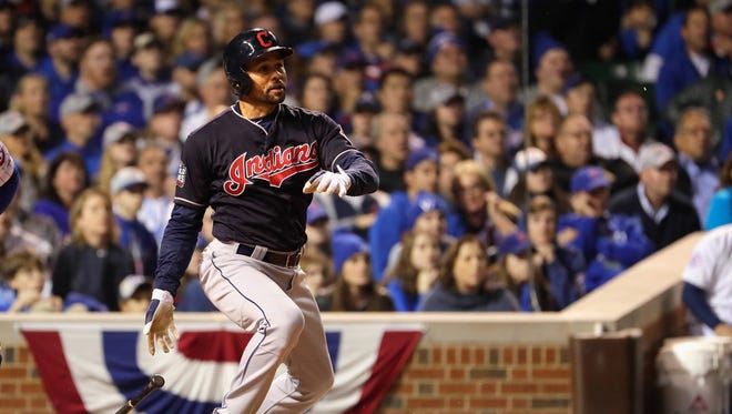 Coco Crisp hits the go-ahead single in the seventh inning.