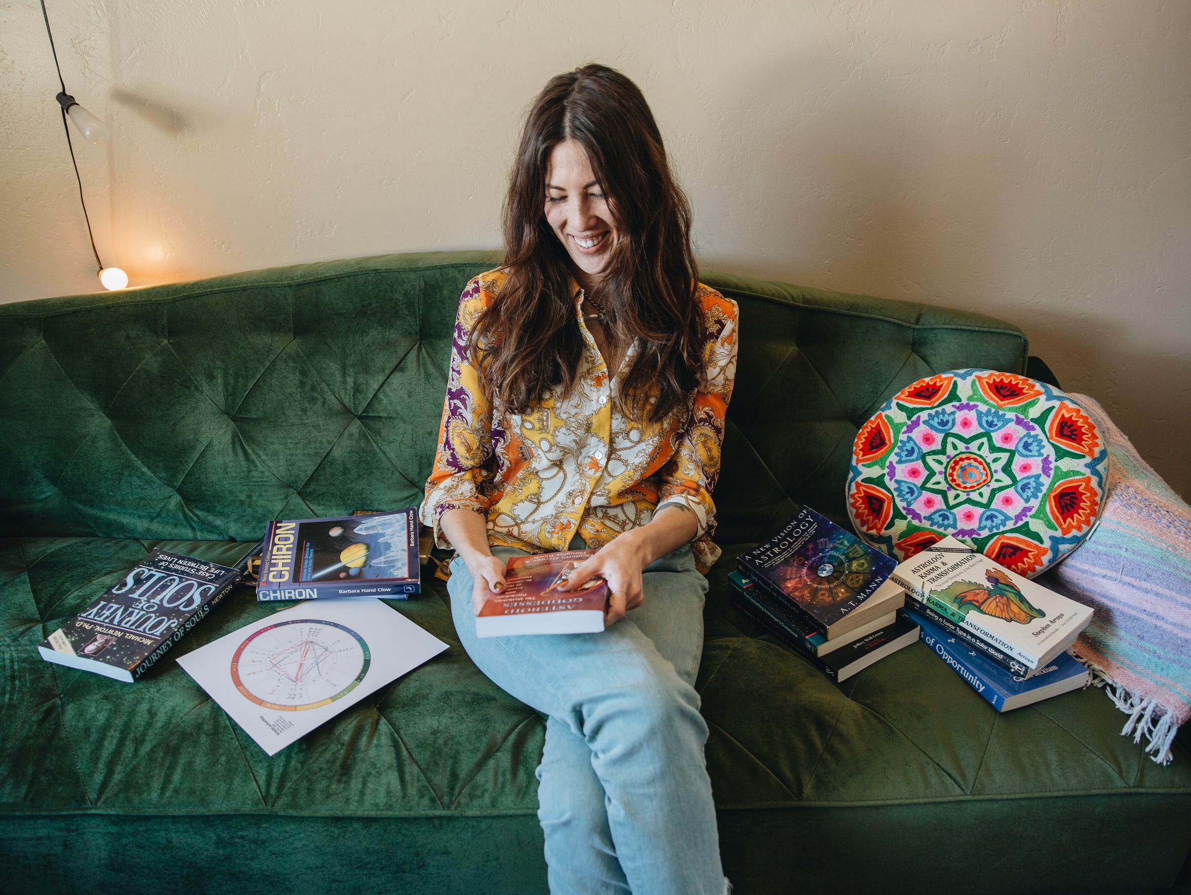 Astrologer Evelyn Zuel in her Joshua Tree home