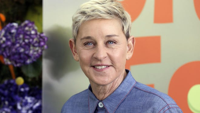 "FILE - Ellen DeGeneres attends the premiere of Netflix's ""Green Eggs and Ham,"" on Nov. 3, 2019, in Los Angeles."