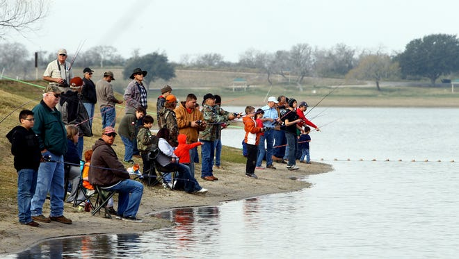 Lake Corpus Christi State Park has scheduled a free kids fishing day for Jan. 27 to coincide with the release of 2,200 rainbow trout.
