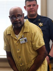 Hudy Muldrow Sr. of Woodland Park arrives in Morris County New Jersey Superior court for a first appearance after he was charged yesterday with two counts of vehicular homicide for allegedly driving recklessly and causing the deaths of school bus passengers 10-year-old Miranda Vargas and Jennifer Williamson-Kennedy, a social studies teacher from East Brook Middle School in Paramus. May 25, 2018. Morristown, NJ.