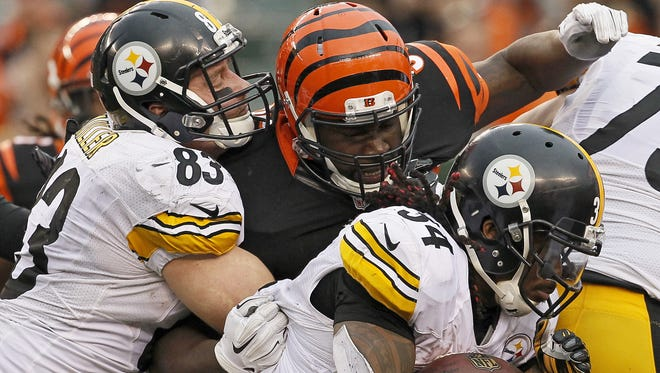Pittsburgh running back DeAngelo Williams (34) may not be able to play on Saturday.