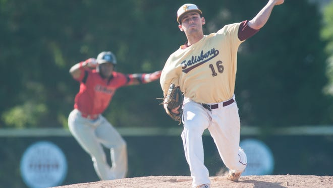 Senior Connor Shockley delivers in a game last game.