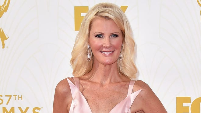 Sandra Lee arrives at the 67th Primetime Emmy Awards at the Microsoft Theater in Los Angeles. Lee says she is cancer free and feeling good months after a double mastectomy.