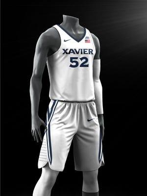 Xavier men's basketball's new home uniform set for the 2017-18 season.