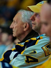 Nick and David Brkich watch game 3 of the Stanley Cup