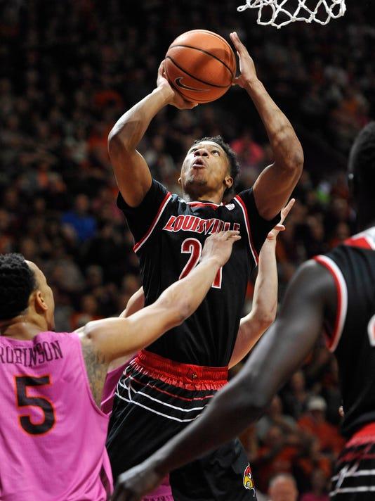 NCAA Basketball: Louisville at Virginia Tech