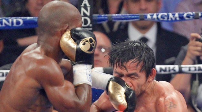 Timothy Bradley Jr. fighst against superstar Manny Pacquiao at the MGM Grand Garden Arena on June 9, 2012. Bradley won, but later, many felt Pacquiao was the winner.