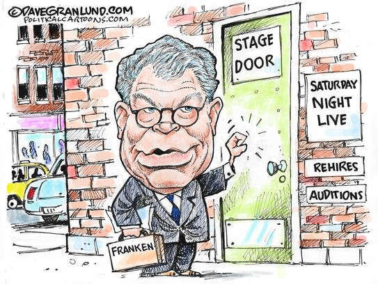 Al Franken resigns from Senate commentary by Dave Granlund,