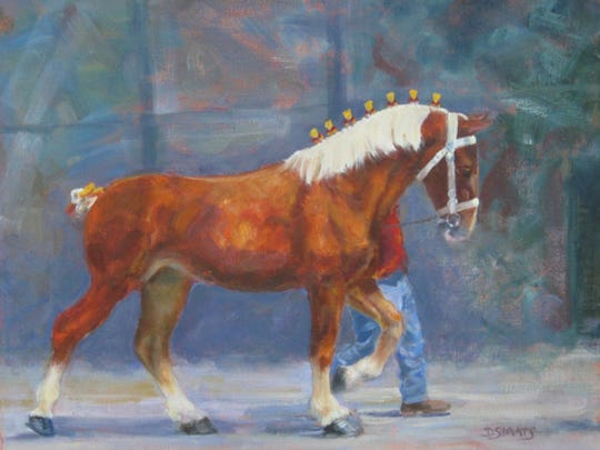 Artist Donna Staats sees Wisconsin State Fair judging